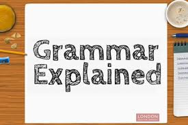 Link to Technical Grammar Glossary on the D of E web site